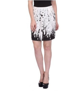 Glam a gal white and black mini skirt