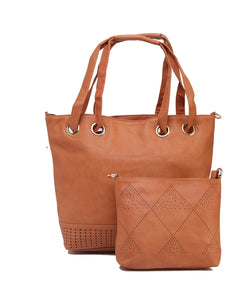 Fiona Trends Tan PU Shoulder Bag,6002_TAN