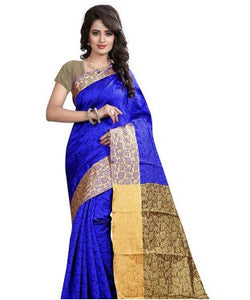 AAR VEE Blue Silk Weaving Designer Saree
