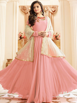 YOYO Fashion Designer Faux Georgette Latest Amrella Cut Anarkali Salwar Suit $ F1169