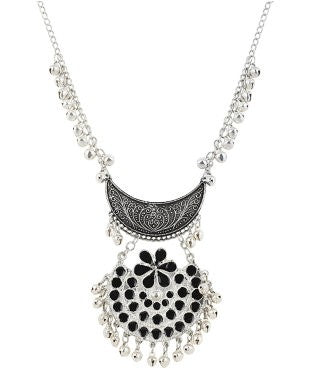 aradhya GCN957 Crystal Silver Plated Metal Necklace