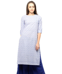 BLUE COLOR COTTON HOMA KURTIS