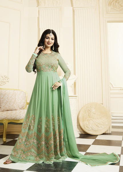 YOYO Fashion Designer Latest Faux Georgette Embroidred Salwar Suit - F1133