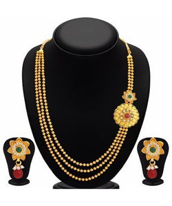 Sukkhi Traditionally Gold Plated Necklace Set For Women