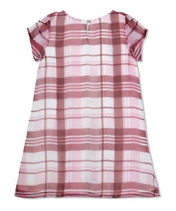 Budding Bees Girls Red Striped Frill Dress