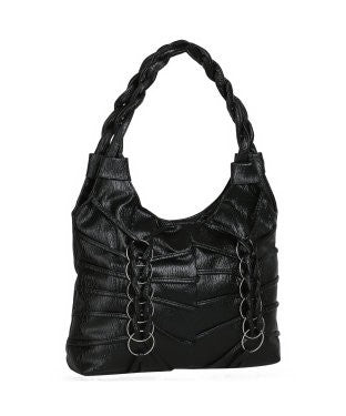 KACEY Black PU Handbag