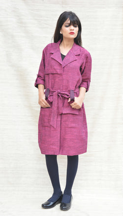 Wine Colored Khadi Jacket $ IWK044