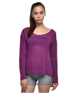 Guess Purple F/S Top