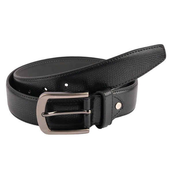 Baluchi's Black Textured Semi Formal Men's Belt $ BLC_PMB_1