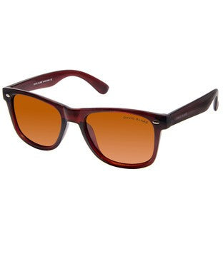 David Blake Brown Polarised Wayfarer Sunglass
