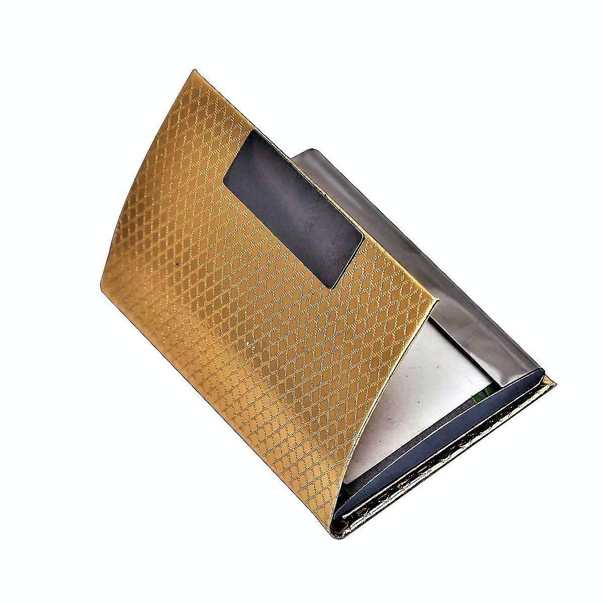 Gold Plated Pen And Gold Plated Visiting Card Holder And Gold Plated