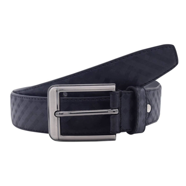 Baluchi's Black Textured Semi Formal Men's Belt $ BLC_PMB_5