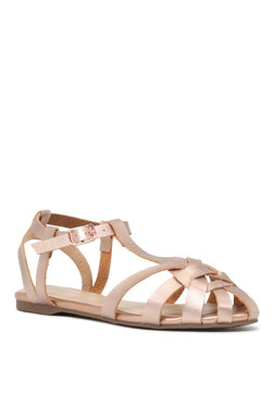 London Rag Womens Rose Gold Flat Gladiator Sandals $ SH1627