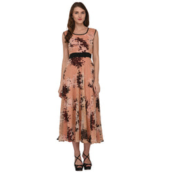 FLORAL LONG GEORGETTE DRESS FOR WOMEN $ GB0003