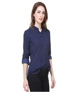 REDPOSE BLUE PRINTED CASUAL SHIRT