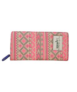 SA 013CLW Spice Art Ikat Print Canvas Ladies Wallets