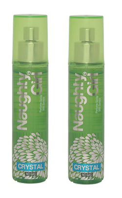 Naughty Girl CRYSTAL Perfume Spray for Women- Pack of 2 (60ml each)