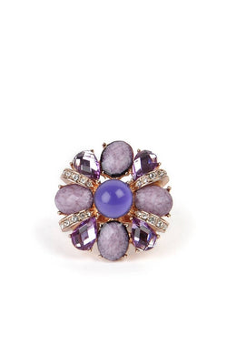 Purple Blossom Ring