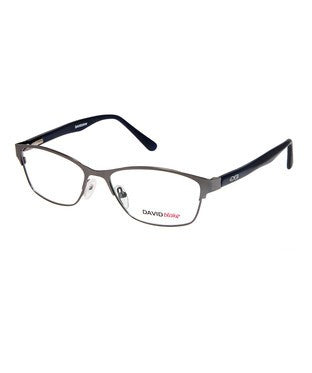David Blake Matte Grey Rectangular Full Rim EyeFrame