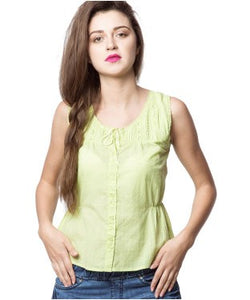 American Swan Lime Green S/L Top