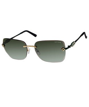 David Blake Green Oversized Gradient, UV Protected, Mirrored Sunglass