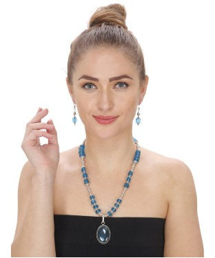 Aradhya Stone Jewel Set (Blue)