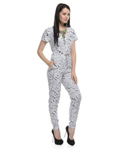 Jan 2 December Design Studio White And Black Jumpsuit