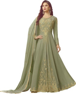 YOYO Fashion Light Green Faux Georgette Anarkali Salwar Suit & YO-F1307