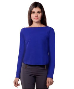 Miss Chase Blue F/S Top