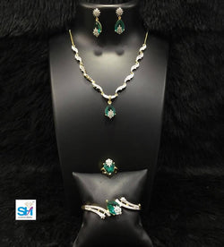 Gaurik Designer necklace designed with stones with pair of earrings $ Necklace No.24