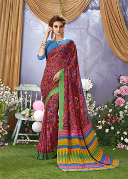Desiner Printed Faux Georgette Saree With Blouse $ SE00128727