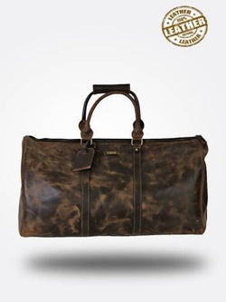 Strutt Unisex Tan Brown Leather Duffel Bag $ SMD521