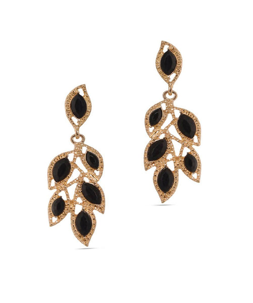 BAUBLE BURST Midnight Leaf Earrings