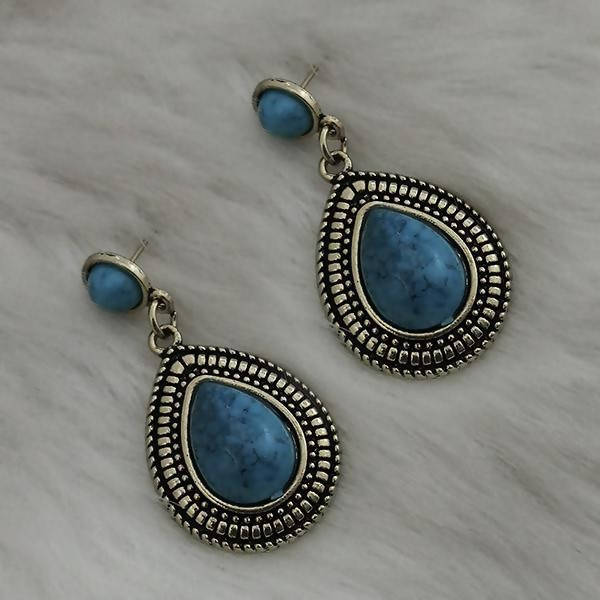 Tanishka Fashion Gold Plated Blue Turquoise Stone Dangler Earrings $ 1310859D