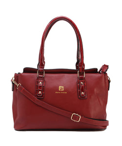 Fiona Trends Red PU Shoulder Bag,104_RED