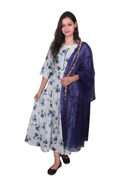 Libas Cotton Dress/Long Dress/Maxi Dress/Long Kurti Pure Rayon Fabric Long Kurti/Maxi Dress with Cotton duppata $ Libas-056