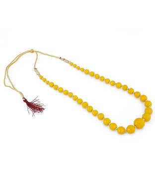 aradhya Onyx Yellow Gold Plated Metal, Alloy Necklace