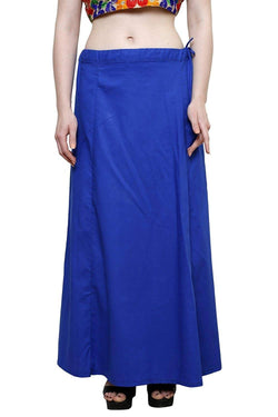 MY TRUST Cotton Blue Color Saree Petticoats $ PT-2