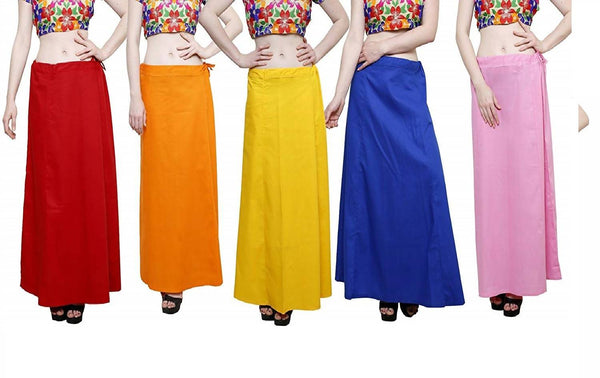 MY TRUST Cotton Multi Color Color Saree Petticoats $ PE-4