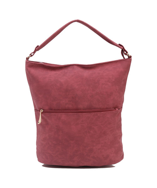 Fiona Trends Red PU Shoulder Bag,6606_RED