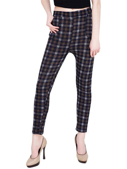 Baluchi Check Plaid Print Jeggings $ BLC_JEG_23