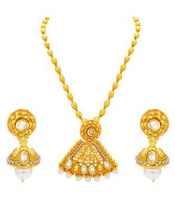 Sukkhi Trendy Gold Plated Kundan Necklace Set For Women