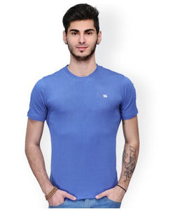 Dazzgear Men's Blue Round Neck MTO-73 T-Shirt