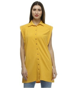Glam a gal yellow tunic