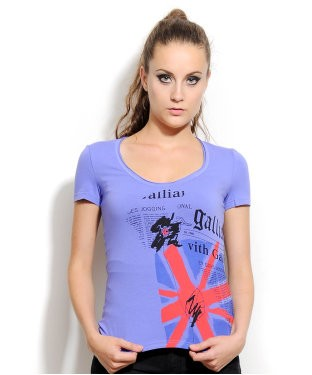 Galliano Blue S/S Top