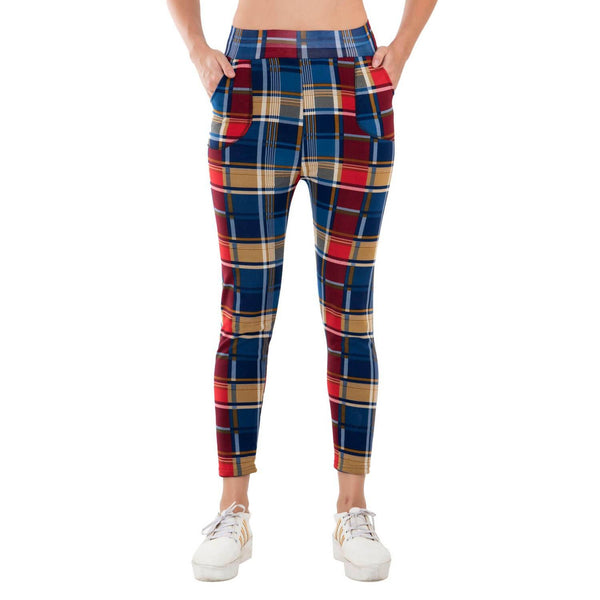 Baluchi's Check Plaid Print Jeggings $ BLC_JEG_16