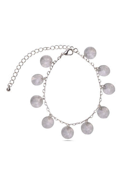 Silver Disc Anklet - JIAFANK5867