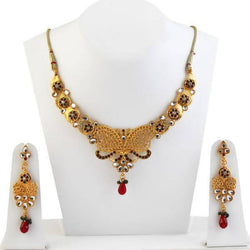 Tanishka Fashion Gold Plated Austrian Stone Necklace Set