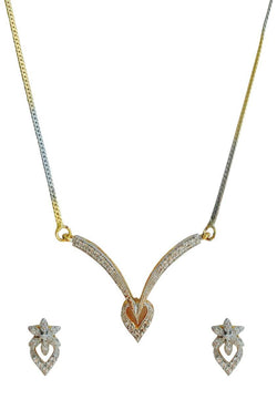 Gilded Knot Diamond Necklace - JSPDNES9976