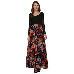 FLORAL LONG GEORGETTE DRESS FOR WOMEN $ GB0006